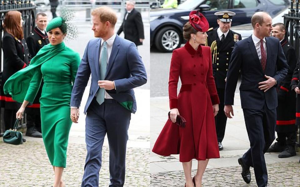 William và Kate cố ý phớt lờ Harry và Meghan tại sự kiện hoàng gia