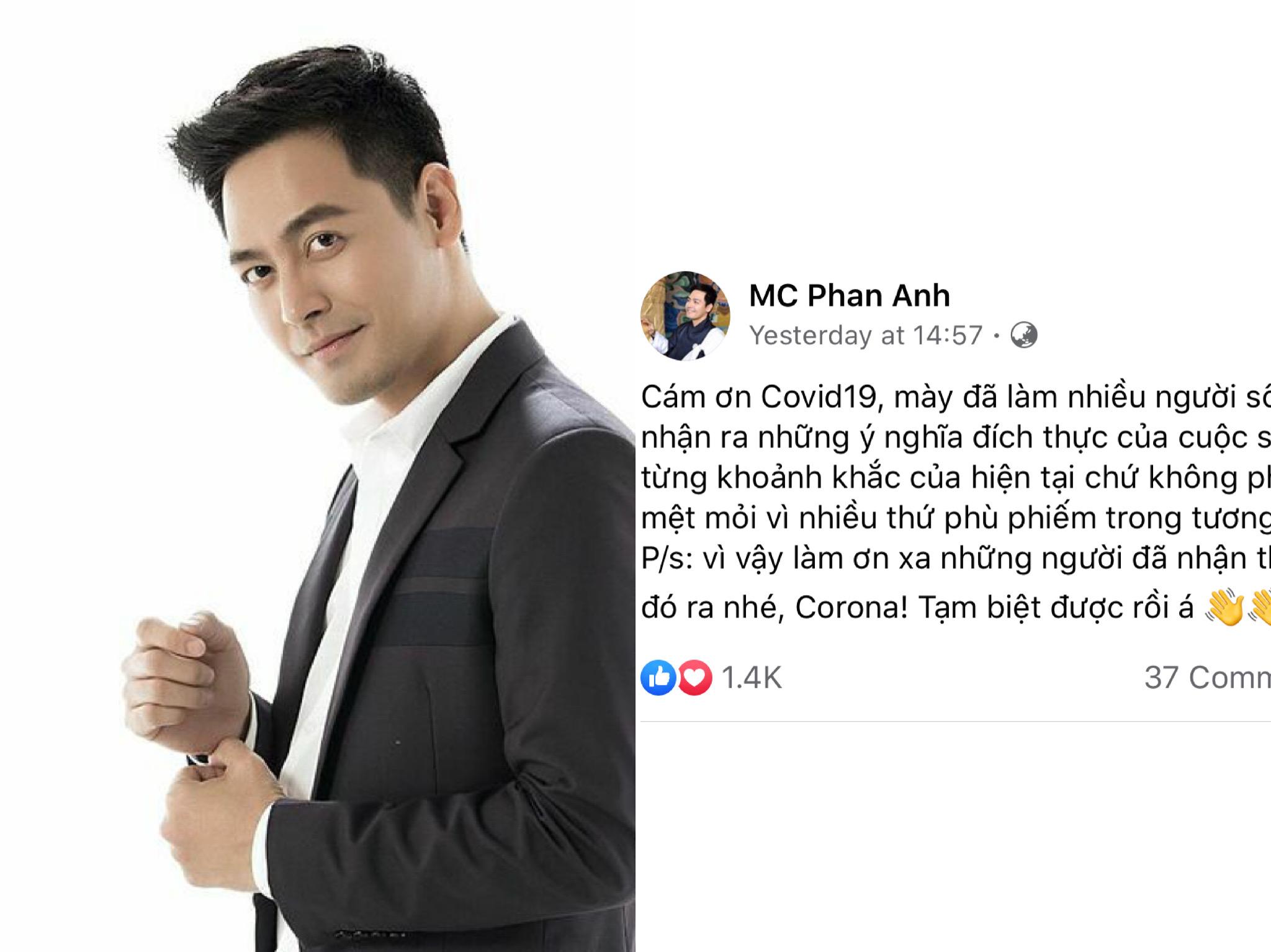 MC Phan Anh gây tranh cãi với phát ngôn 'Cám ơn Covid-19'