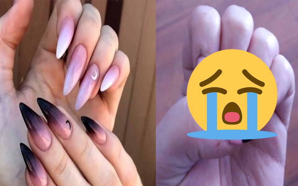 Hí hửng đưa mẫu nail xinh đẹp trên mạng đến tiệm nhờ làm và cái kết không thể tồi tệ hơn