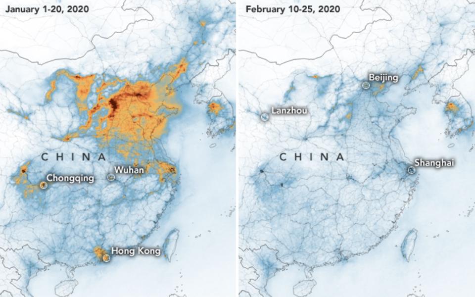 Ô nhiễm không khí tại Trung Quốc giảm xuống đáng kể trong thời gian dịch COVID-19 bùng phát