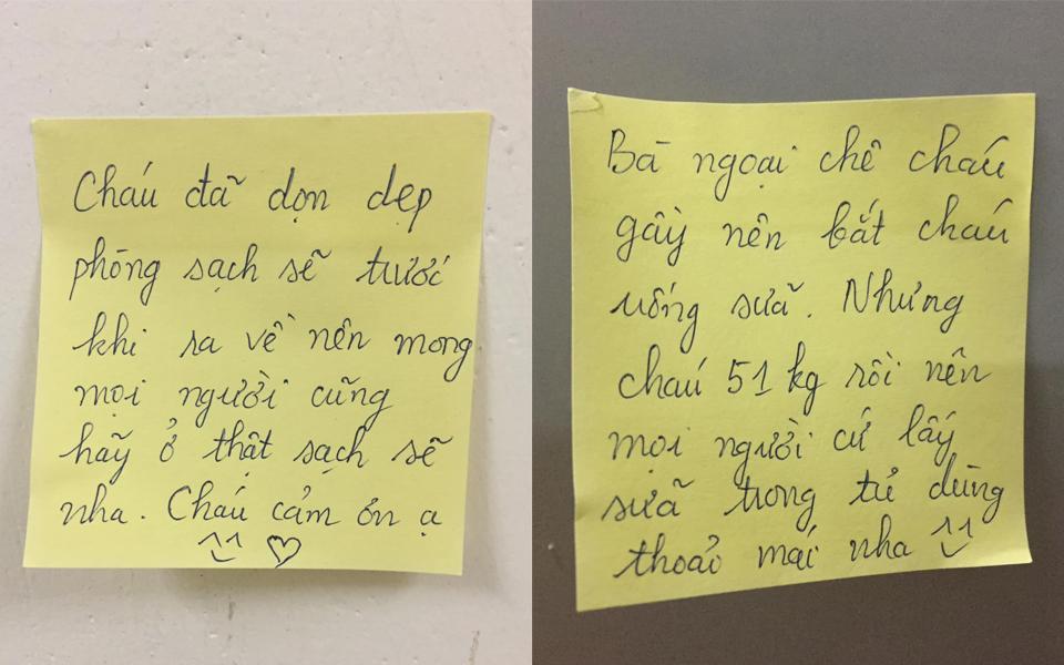 Cháo hành miễn phí: Nữ sinh viên viết note dặn dò chu đáo cho người đến cách ly