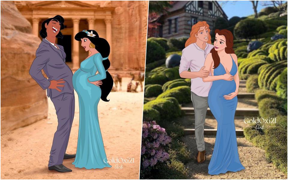 Các nàng công chúa Disney mang thai ở thời hiện đại thì sẽ như thế nào?