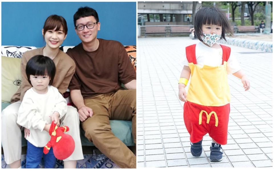 Hạnh phúc một nhà 3 người: Chồng tự tay may trang phục cho vợ và con gái