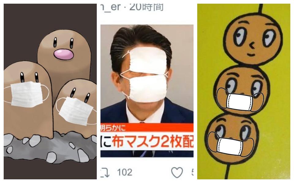 Dân mạng tạo trend chế giễu chính sách tặng tận '2 cái khẩu trang' của Thủ tướng Nhật