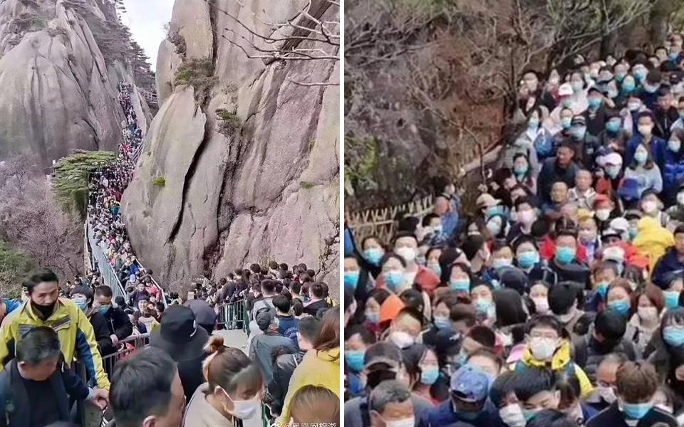 20.000 du khách đổ về công viên Quốc gia Trung Quốc khi nghe tin vào cổng miễn phí