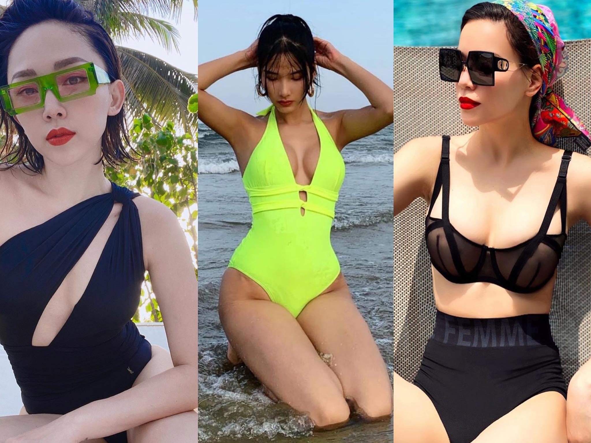 Mới đầu hè, hàng loạt mỹ nữ Việt đã khoe dáng nóng bỏng trong bộ bikini