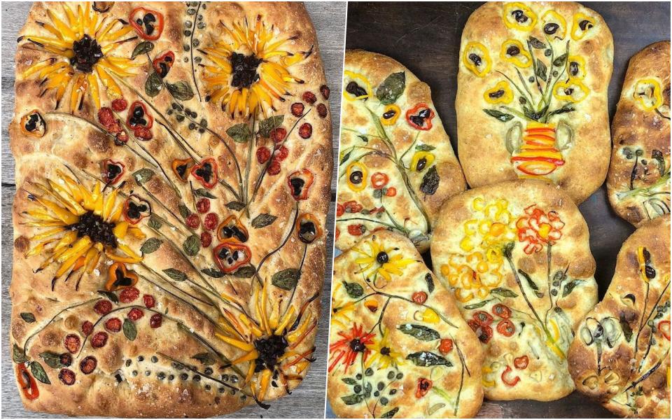 Những chiếc bánh mì focaccia đẹp như tranh đưa nghệ thuật ẩm thực lên một tầm cao mới
