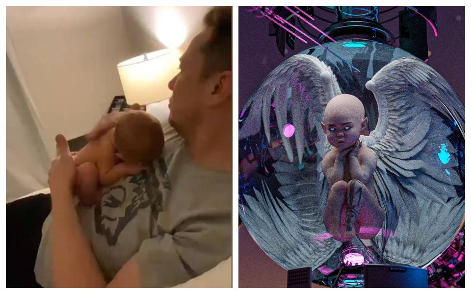 Con trai của Elon Musk vừa ra đời đã có fanpage trên Twitter