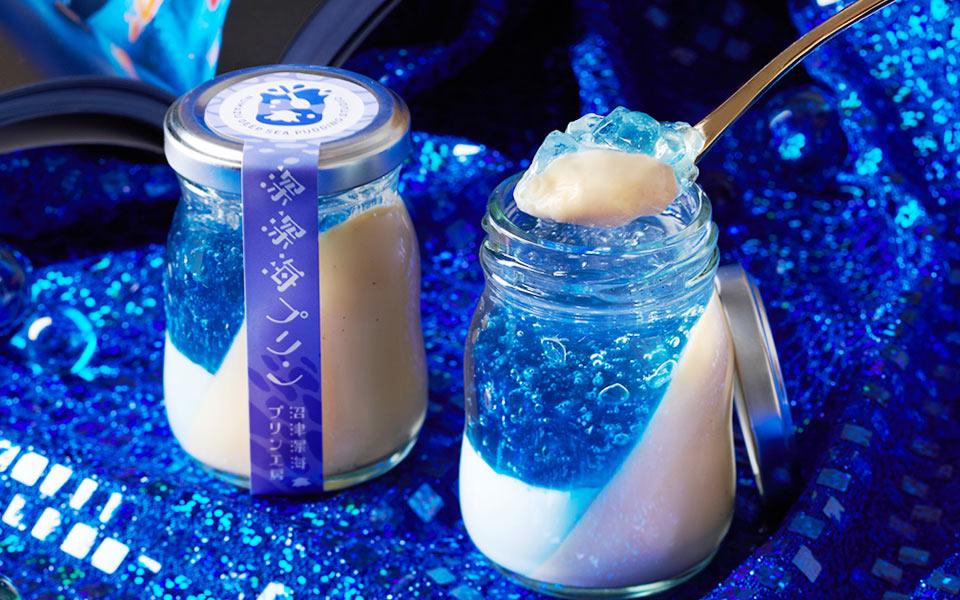 Nhật Bản: Bánh pudding đẹp mắt như nước biển xanh lấp lánh