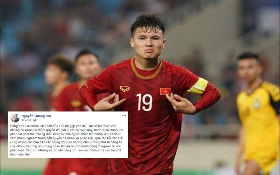 Cầu thủ Quang Hải bị hack Facebook cá nhân, để lộ nhiều bí mật riêng tư gây xôn xao cộng đồng mạng