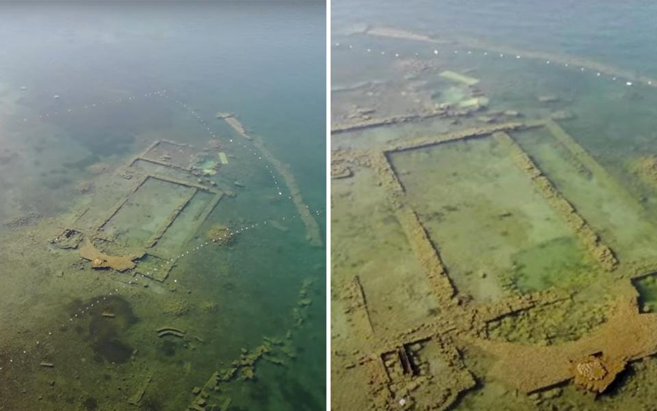 Nhà thờ chìm dưới hồ nước Thổ Nhĩ Kỳ suốt 1.600 năm bất ngờ xuất hiện nhờ mặt nước hết ô nhiễm