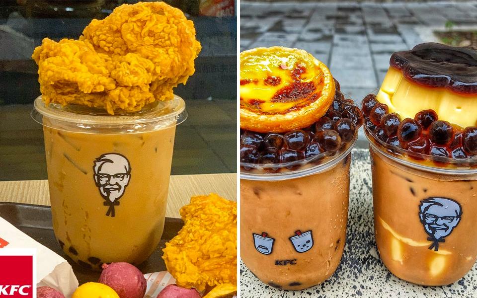 KFC Đài Loan ra mắt trà sữa trân châu ăn kèm gà rán cho các tín đồ vừa thèm mặn vừa ham ngọt