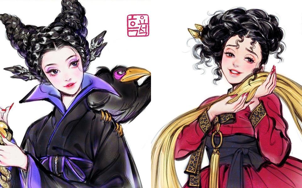 Khi các nhân vật phản diện trong Disney theo đuổi concept Hàn Quốc