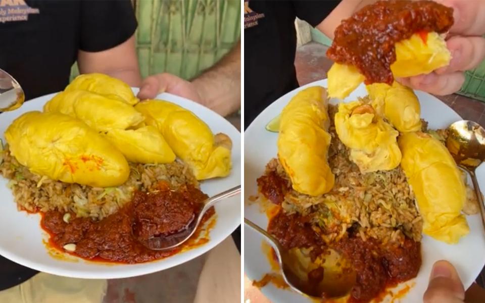 Món cơm chiên sầu riêng cay tại Malaysia đến blogger ẩm thực cũng lắc đầu không dám thử