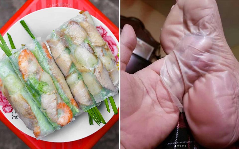 Trang giải trí Malaysia khiến CĐM Việt Nam phẫn nộ khi so sánh món gỏi cuốn với da chân người