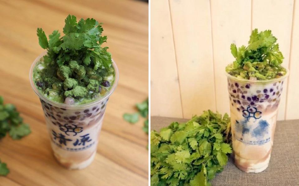 Đài Loan trình làng trà sữa trân châu rau mùi, nhìn thôi đã muốn 'rớt nước mắt' vì sợ