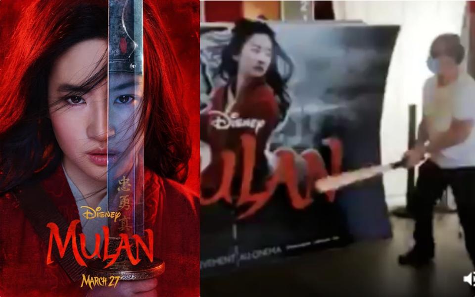 Chủ rạp phim tại Pháp tức giận đập phá poster phim 'Mulan' sau quyết định của Disney