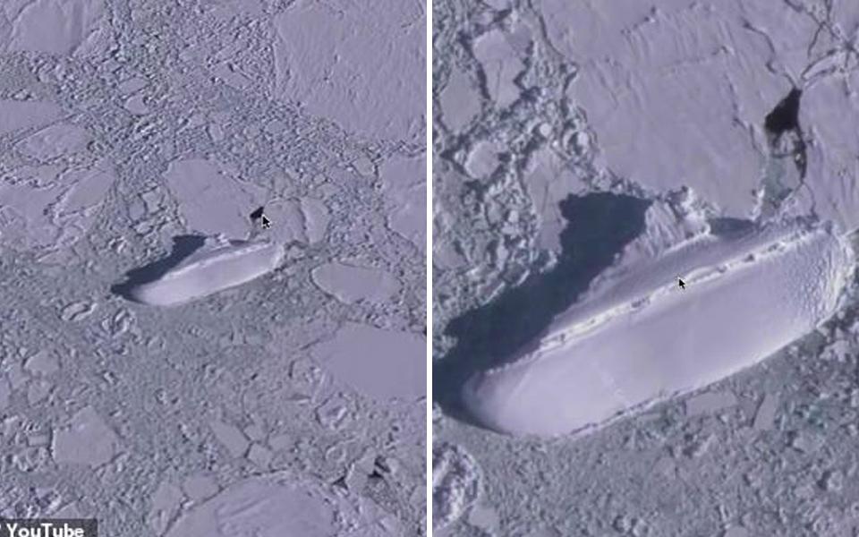 Dân mạng dùng Google Earth vô tình phát hiện một 'tàu băng' dài hơn 121 mét nằm bơ vơ ở Nam Cực