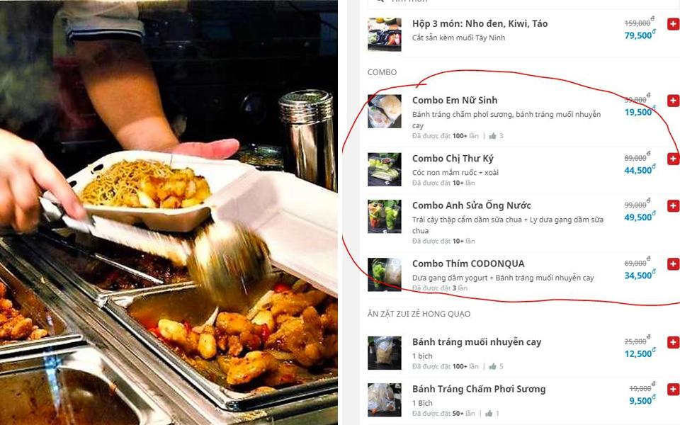 Phần giới thiệu hài hước trong menu của các chủ quán EQ cao trên app giao hàng