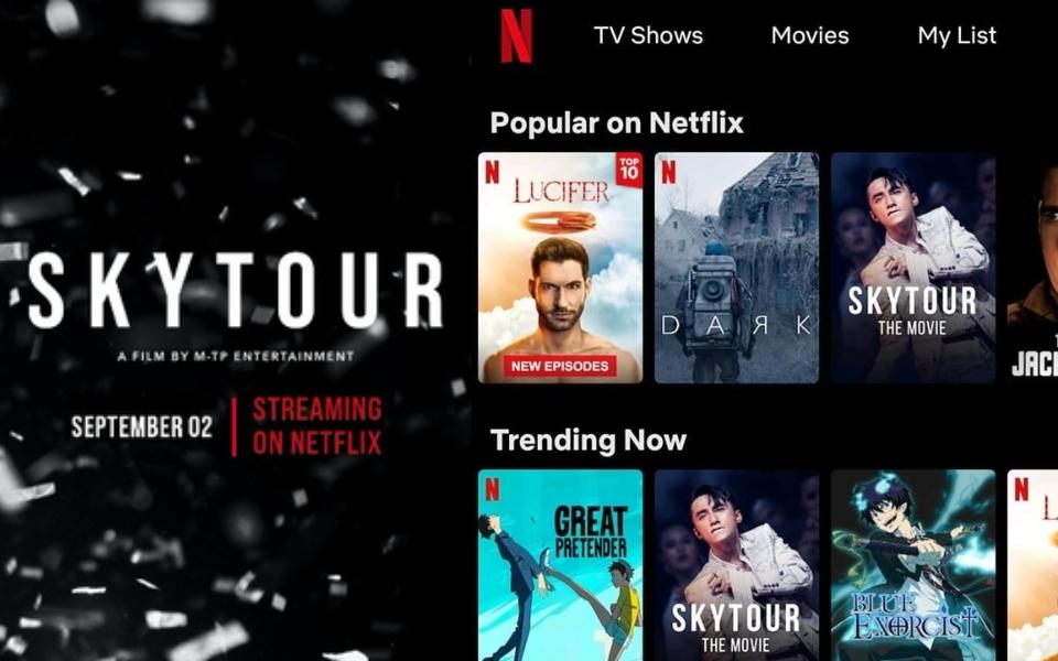 24 giờ sau khi ra mắt trên Netflix, 'Sky Tour: The Movie' leo top Trending phạm vi quốc tế