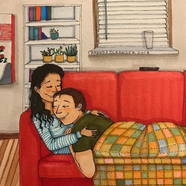 relatable couple relationships illustrations amanda oleander los angeles 67 5ad5f16d33900 700