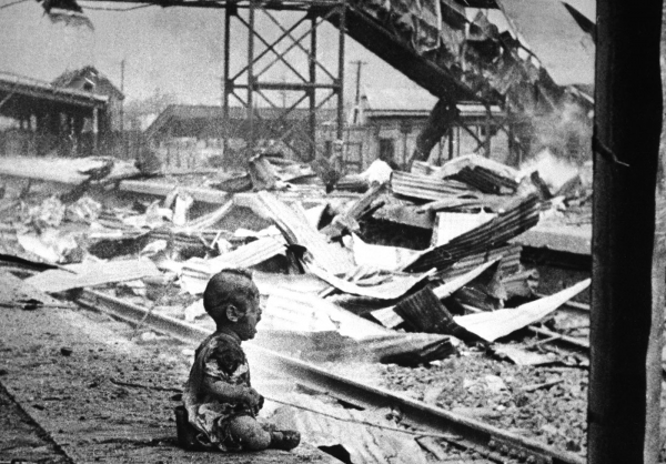 bloody saturday a crying chinese baby amid the bombed out ruins of shanghais south railway station 1937 1