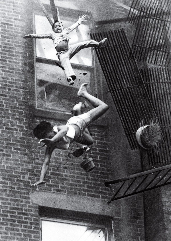 time 100 influential photos stanley forman fire escape collapse 70