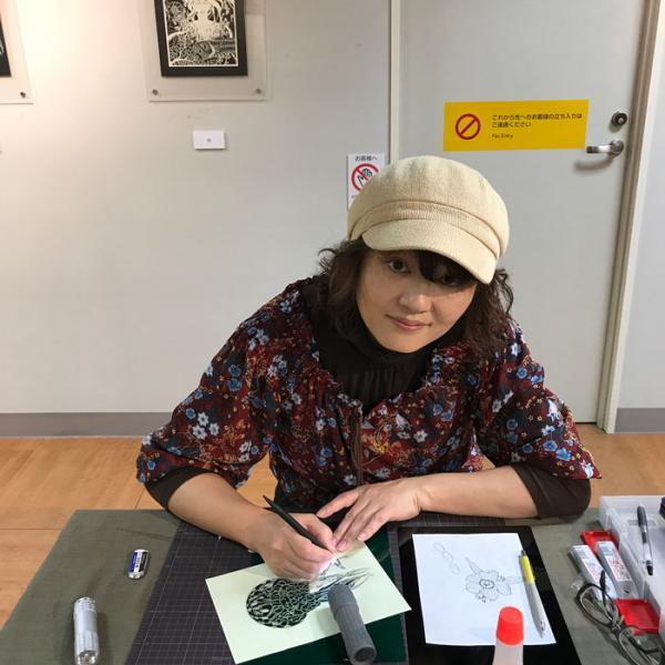 kirie art paper cutting octopus masayo fukuda japan 12
