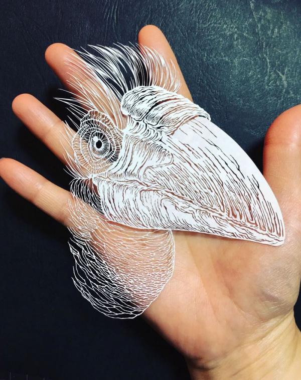 kirie art paper cutting octopus masayo fukuda japan 5