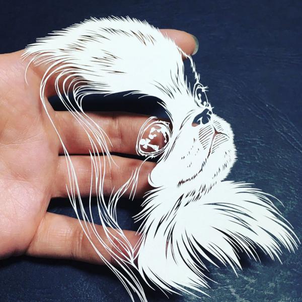 kirie art paper cutting octopus masayo fukuda japan 9