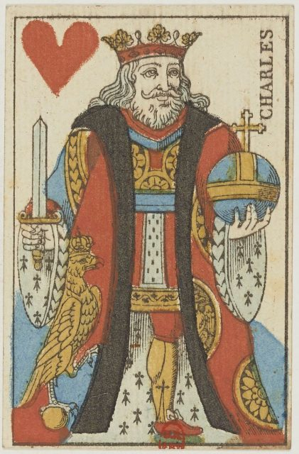 french portrait card deck 1813 king of hearts 421x640