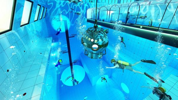 Những hình ảnh thần tiên tại hồ bơi sâu nhất thế giới sẽ mở cửa ở Ba Lan trong năm nay