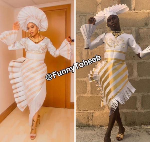 Bộ sưu tập 'remake' những trang phục xấu của người nổi tiếng bởi Funny Toheeb
