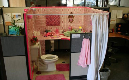 bathroom cubicle prank