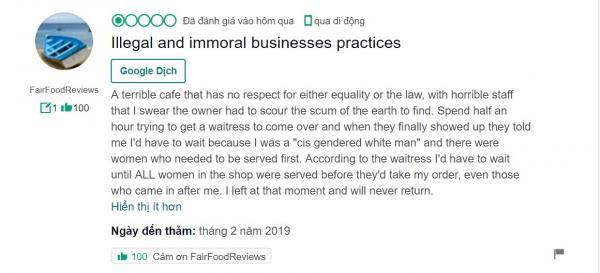 Quán cà phê ưu tiên phụ nữ, bắt đàn ông phải trả thêm tiền cuối cùng cũng sập tiệm