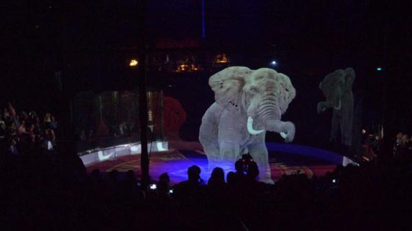 Rạp xiếc sử dụng hình ảnh ba chiều thay thế động vật sống để ngăn ngược đãi động vật