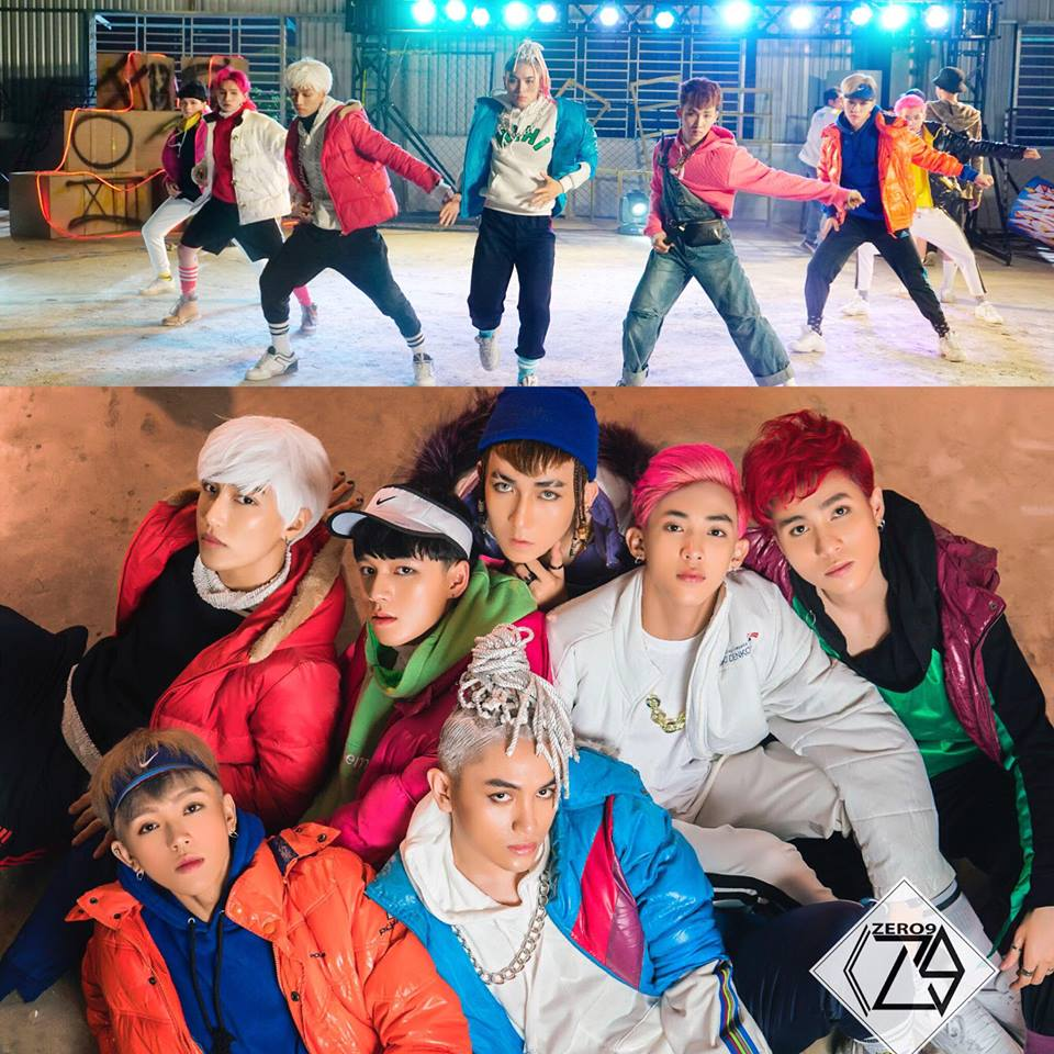 Hình ảnh gây tranh cãi của Zero9 trong single debut của nhóm.