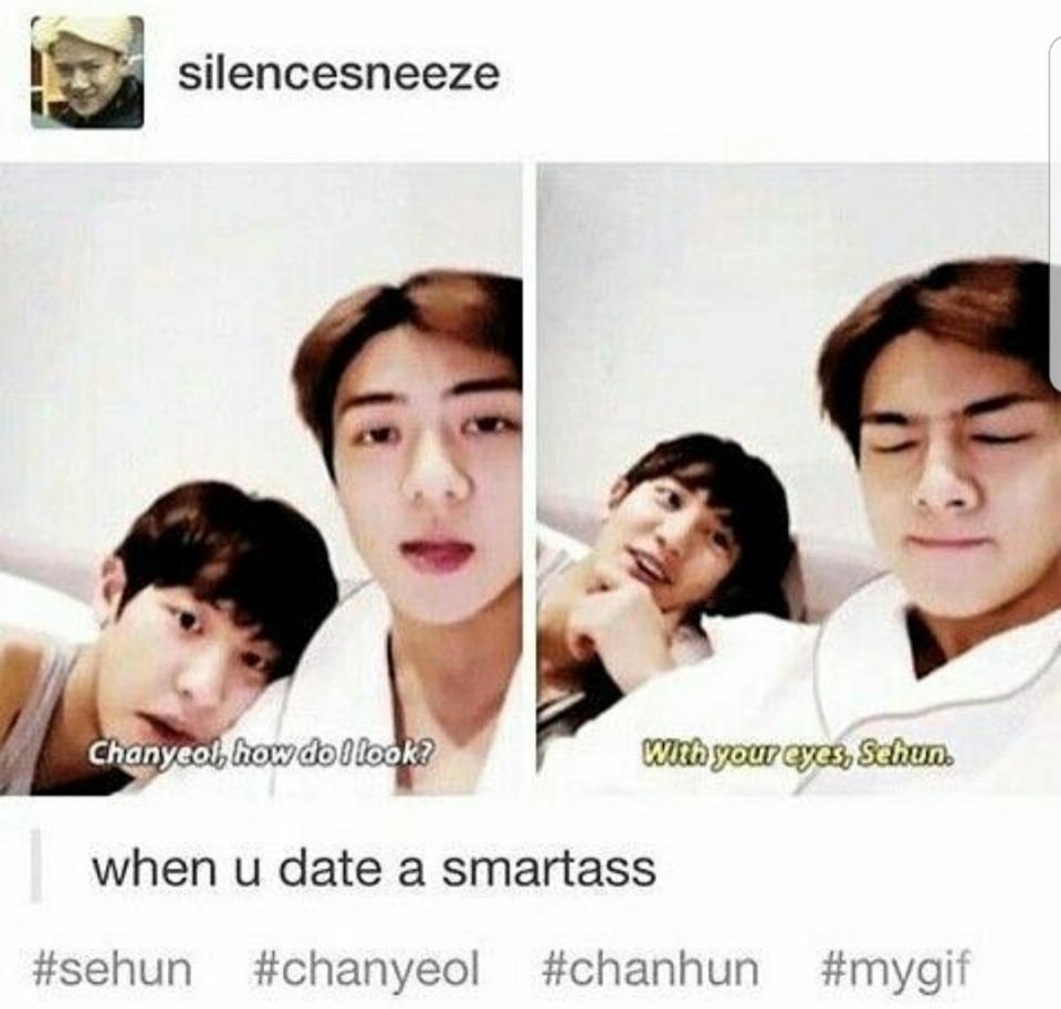 Trong một video, Sehun đã hỏi Chanyeol: \