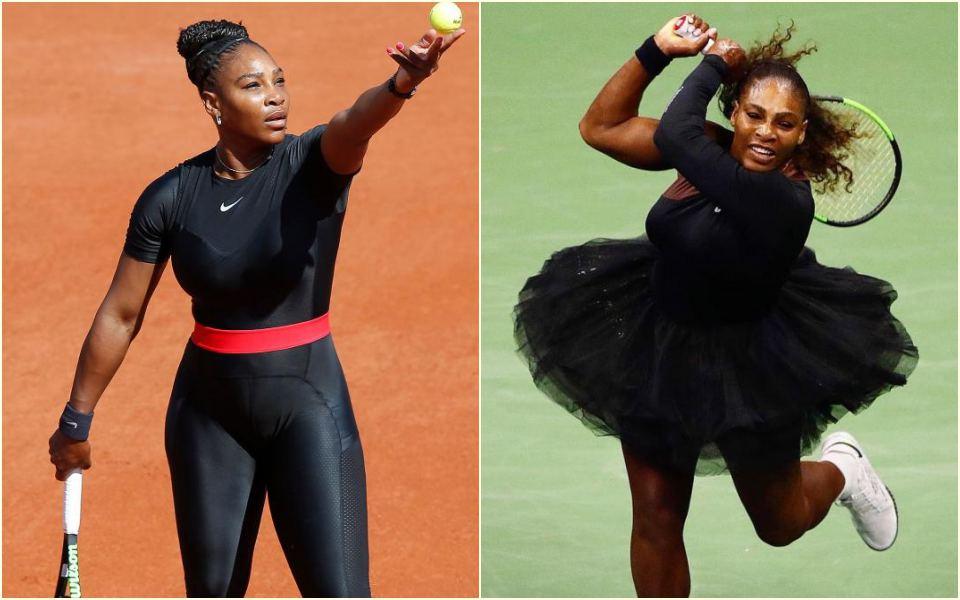 Phản đối lệnh cấm trang phục áo liền quần, Serena Williams hiên ngang mặc hẳn... váy xòe