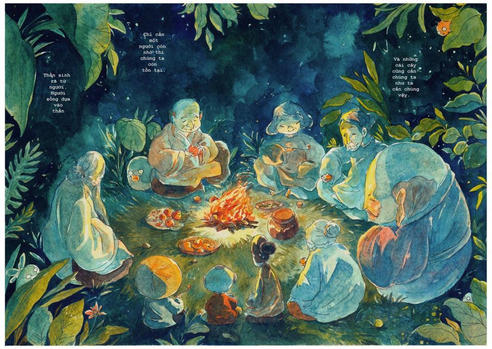 Bộ truyện tranh Việt 'Little Gods of The Forest' khiến chúng ta phải ngẫm nghĩ về thiên nhiên quanh mình