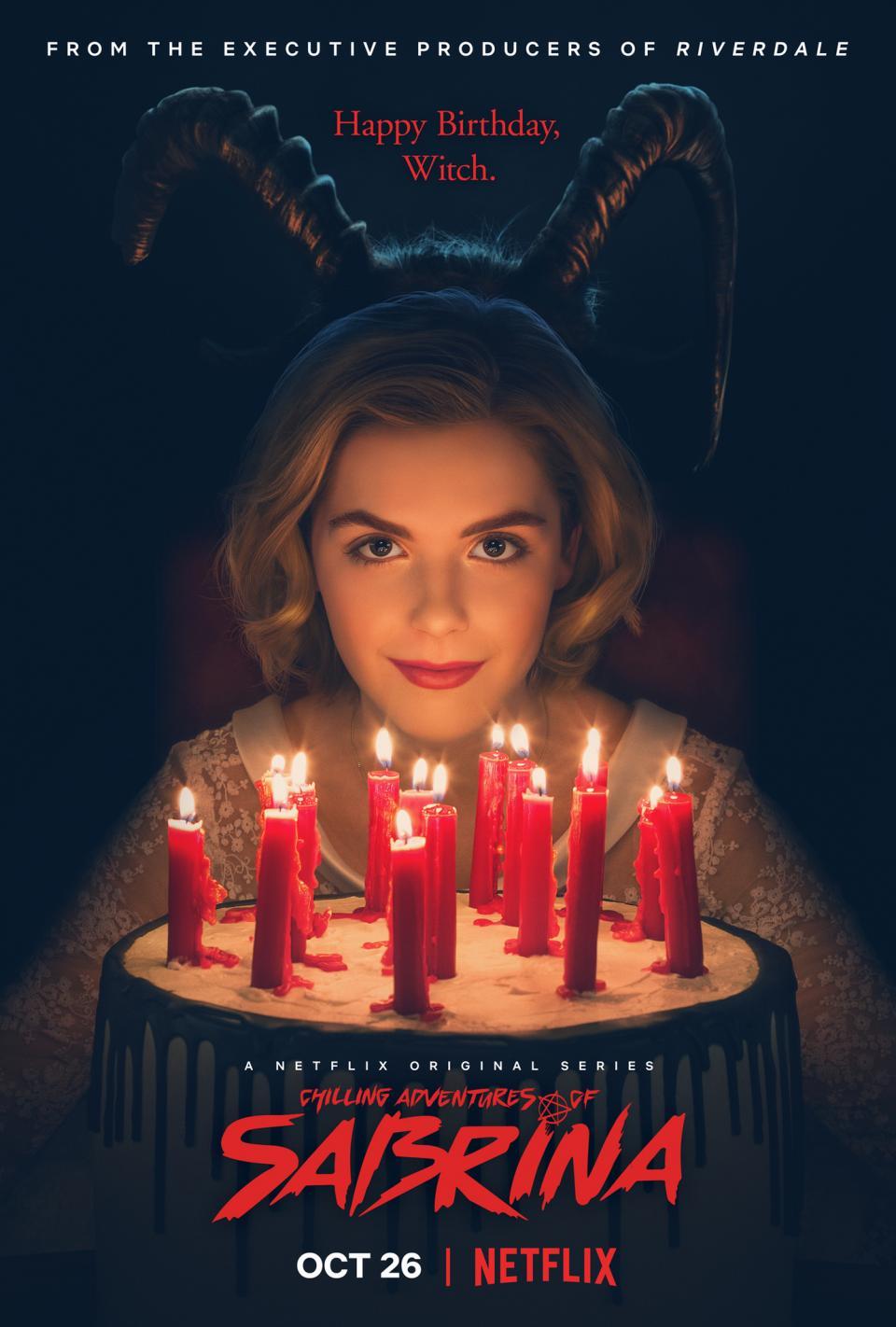 Bối cảnh phim bắt đầu trước ngày sinh nhật lần thứ 16 của Sabrina, thời  điểm mà cô sẽ làm lễ rửa tội truyền thống của phù thủy dưới mặt trăng máu  ...
