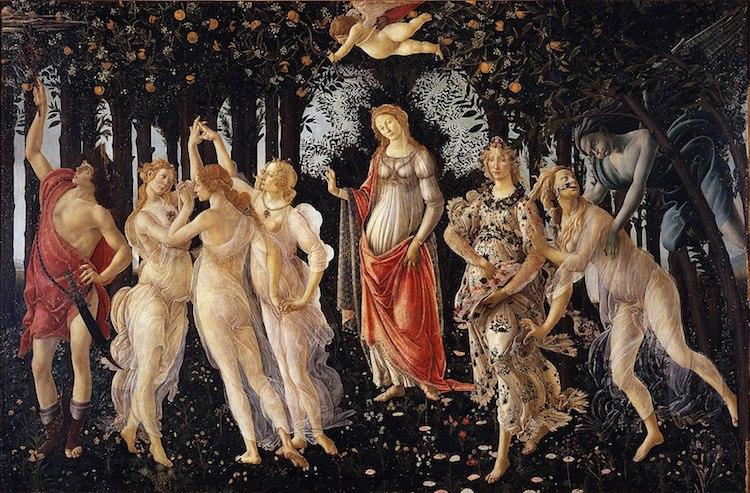 Primavera – khu rừng mùa xuân đẹp 'siêu thực' của các vị thần Hy Lạp