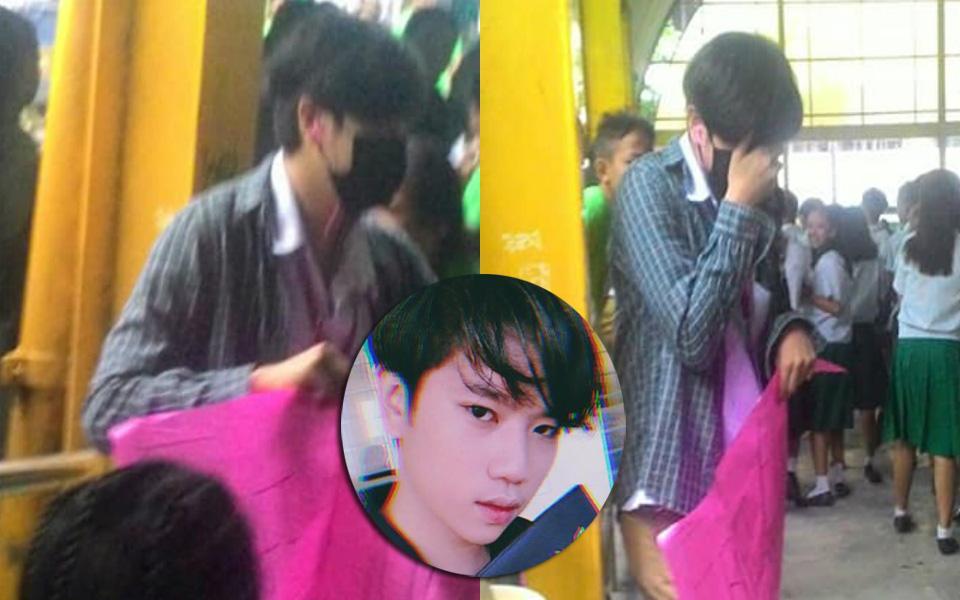 Tổ chức 'free hugs' mừng sinh nhật Jin (BTS), nam sinh khóc vì bị bạn học ném chai nước vào người