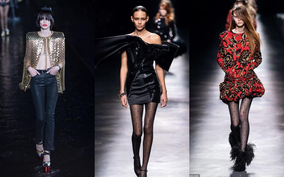 Dù đã thề non hẹn biển, Yves Saint Laurent vẫn tiếp tục sử dụng những mẫu nữ 'siêu mỏng'