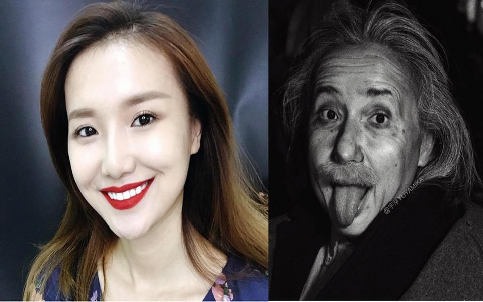 Mỹ nữ Trung Quốc bất ngờ nổi tiếng nhờ hoá trang thành Albert Einstein, Johnny Depp, Mona Lisa