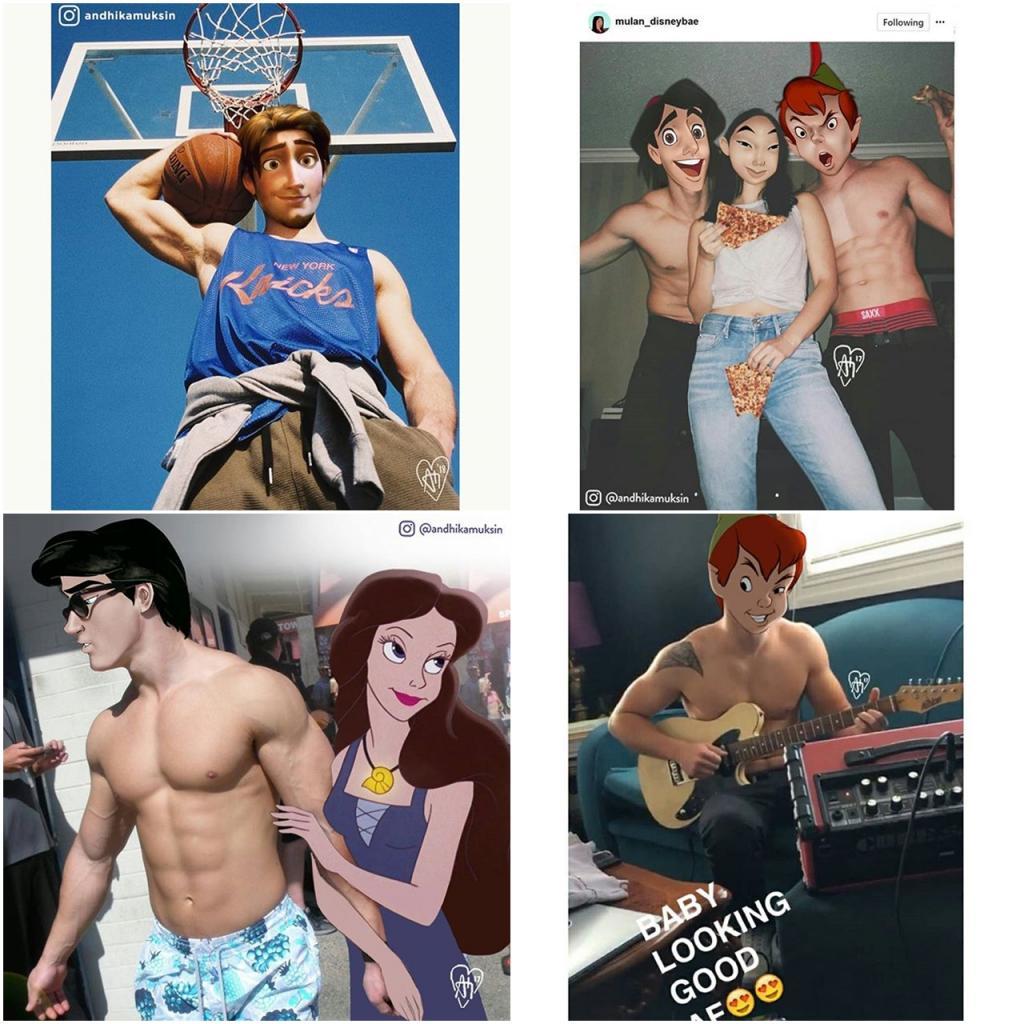 Nhân vật Disney + đời thực = ?