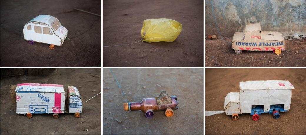 Xem trẻ em tị nạn tự làm đồ chơi từ bùn đất, rác thải mới biết chúng ta may mắn thế nào