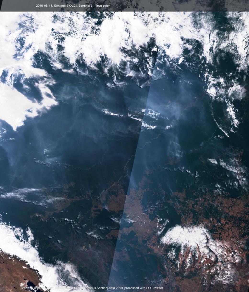 Rừng mưa nhiệt đới Amazon đang bị cháy lớn đến mức có thể quan sát từ trên không gian