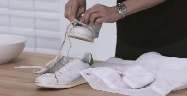 9 cách giúp sneaker trắng luôn... trắng