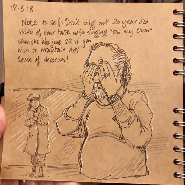 Cuốn nhật kí đẫm nước mắt về cuộc sống khi góa vợ của cựu họa sĩ Disney